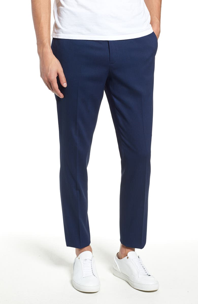 TOPMAN Skinny Fit Suit Pants, Main, color, 400
