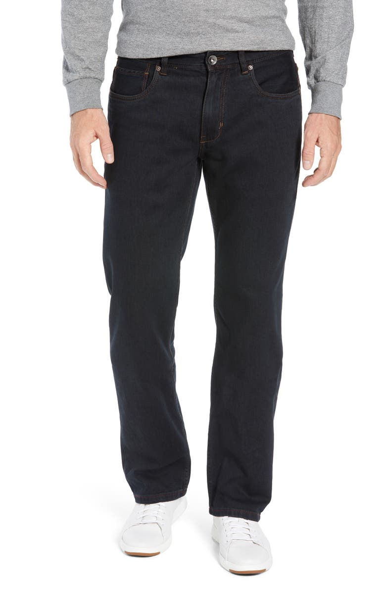 TOMMY BAHAMA Antigua Cove Authentic Standard Fit Jeans, Main, color, BLACK OVERDYE