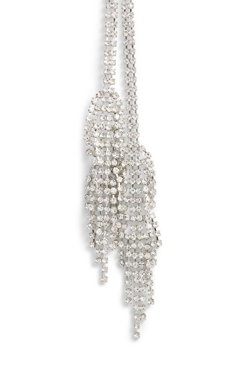 CRISTABELLE Double Fringe Crystal Y-Necklace, Main, color, Silver