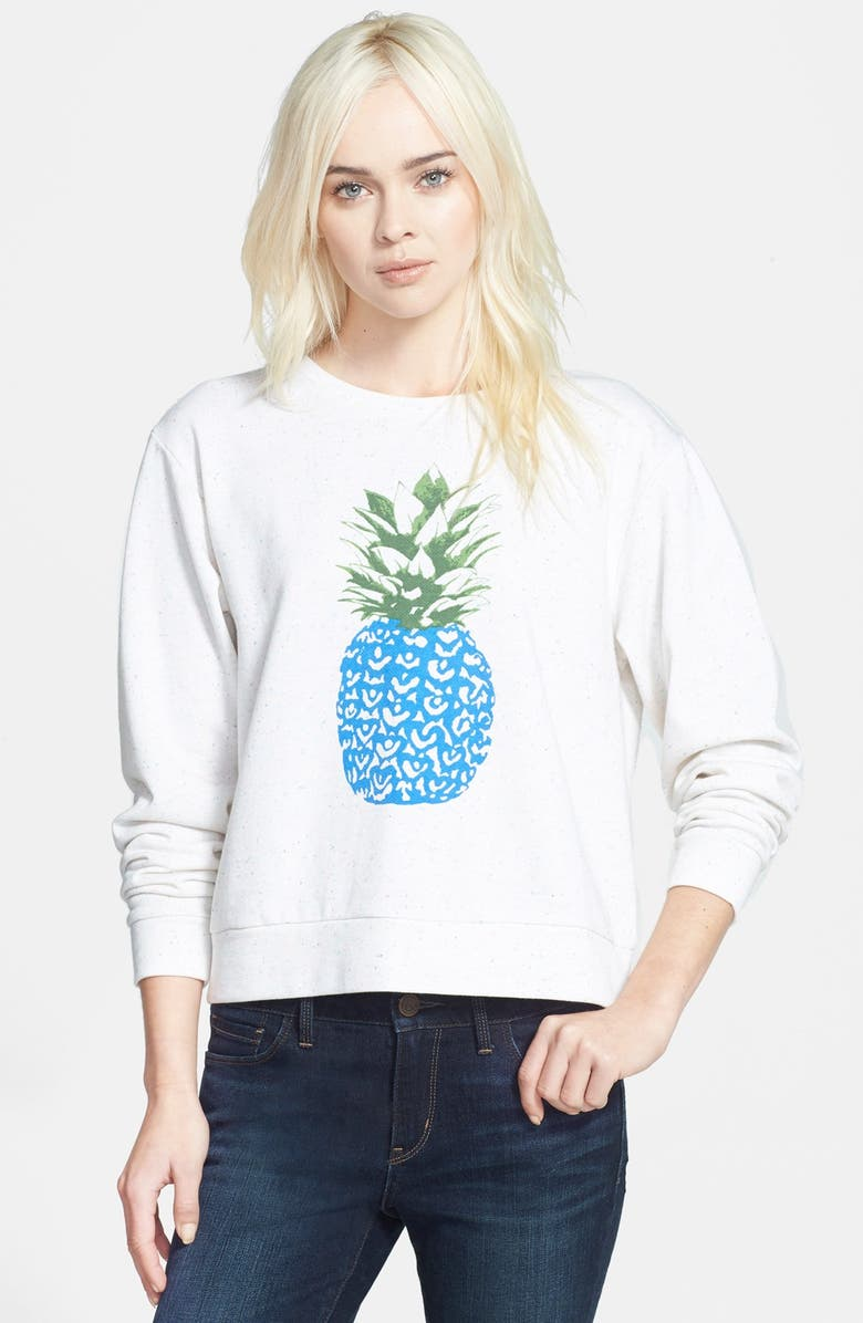 ACE DELIVERY Pineapple Print Sweatshirt, Main, color, FUNFETTI PINEAPPLE
