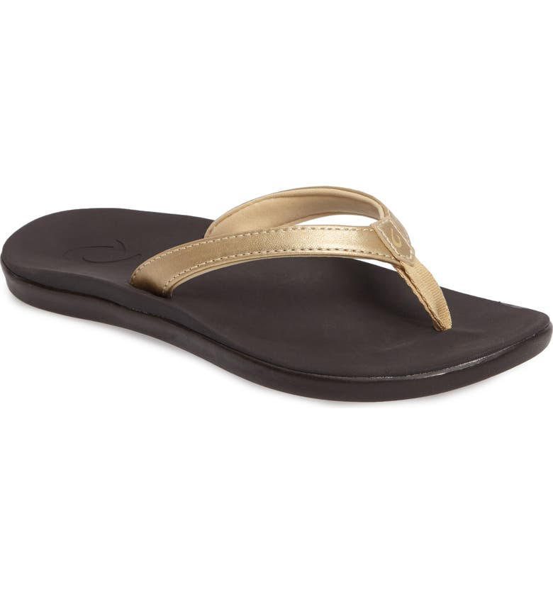 OLUKAI Ho'opio Flip Flop, Main, color, BUBBLY/ DARK JAVA