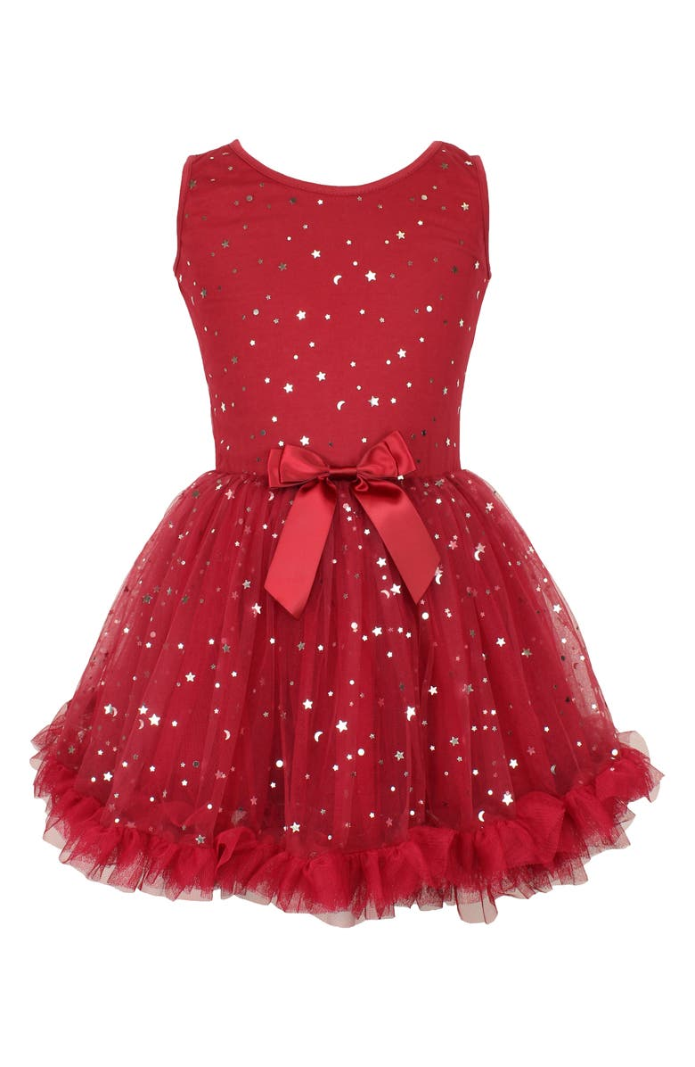 POPATU Metallic Moon & Stars Pettidress, Main, color, RED