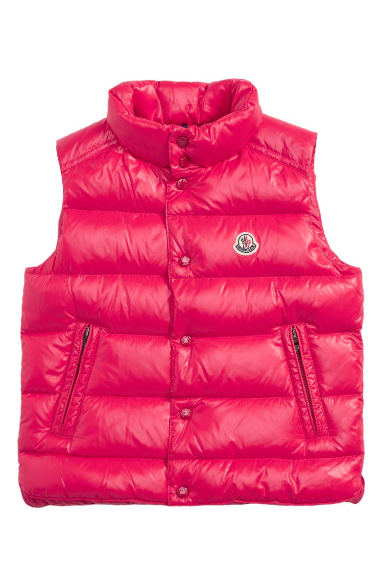 MONCLER Tib Water Resistant Shiny Down Puffer Vest, Main, color, 610