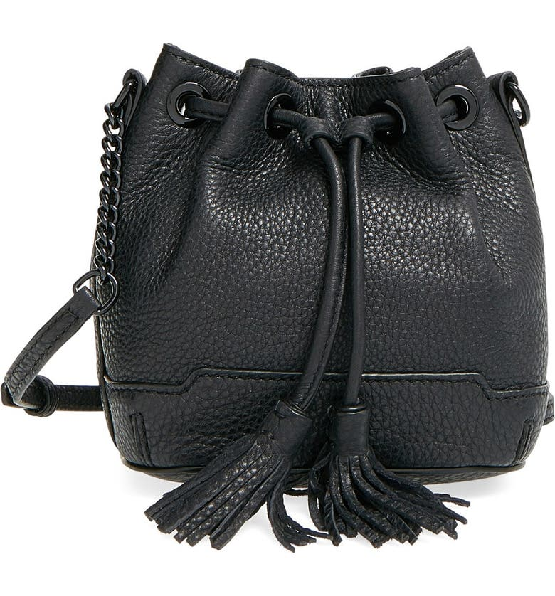 REBECCA MINKOFF 'Micro Lexi' Bucket Bag, Main, color, 001