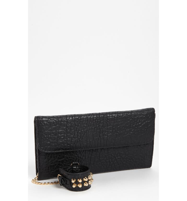 STREET LEVEL Studded Cuff Clutch, Main, color, 001