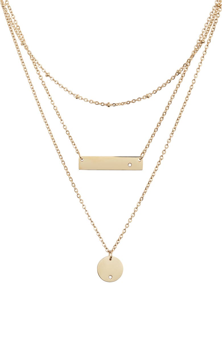 KNOTTY Multistrand Pendant Necklace, Main, color, Gold