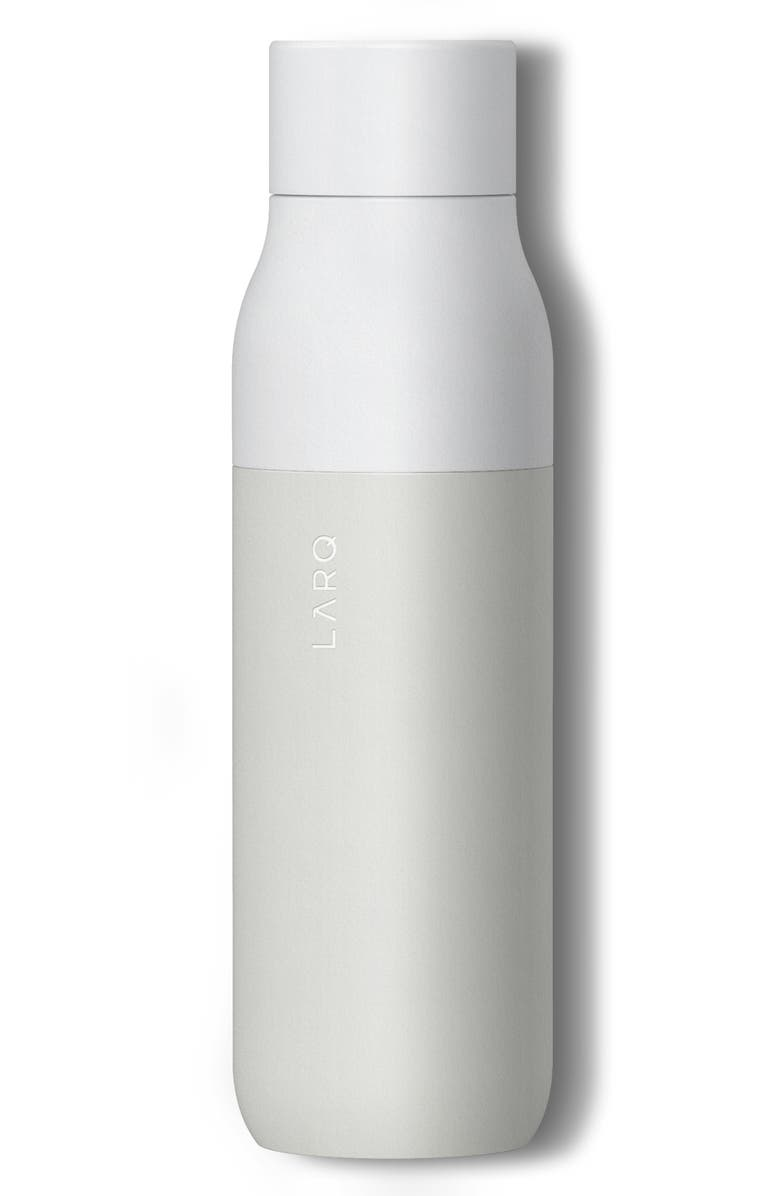 LARQ Self Cleaning Water Bottle, Main, color, GRANITE WHITE