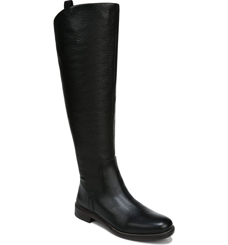 FRANCO SARTO Meyer Knee High Boot, Main, color, BLACK LEATHER