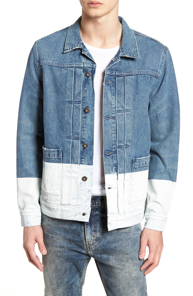 LEVI'S<SUP>®</SUP> MADE & CRAFTED<SUP>™</SUP> Type IV Standard Fit Trucker Denim Jacket, Main, color, HORSESHOE