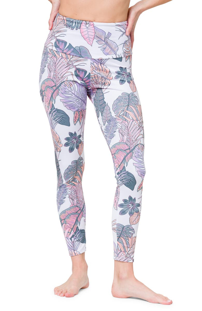 ONZIE High Rise Midi Leggings, Main, color, BOHO BOTANICAL