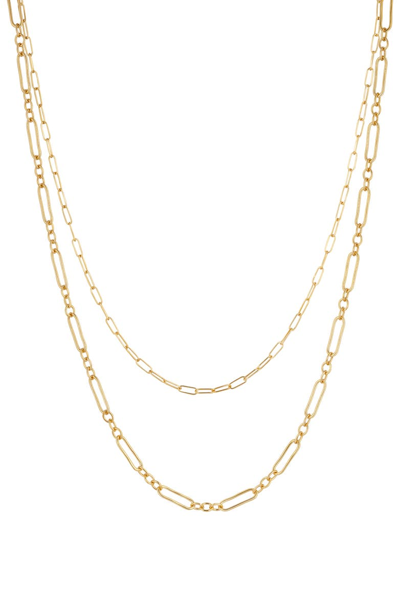 ELECTRIC PICKS Jewelry Audrey Layered Necklace, Main, color, GOLD