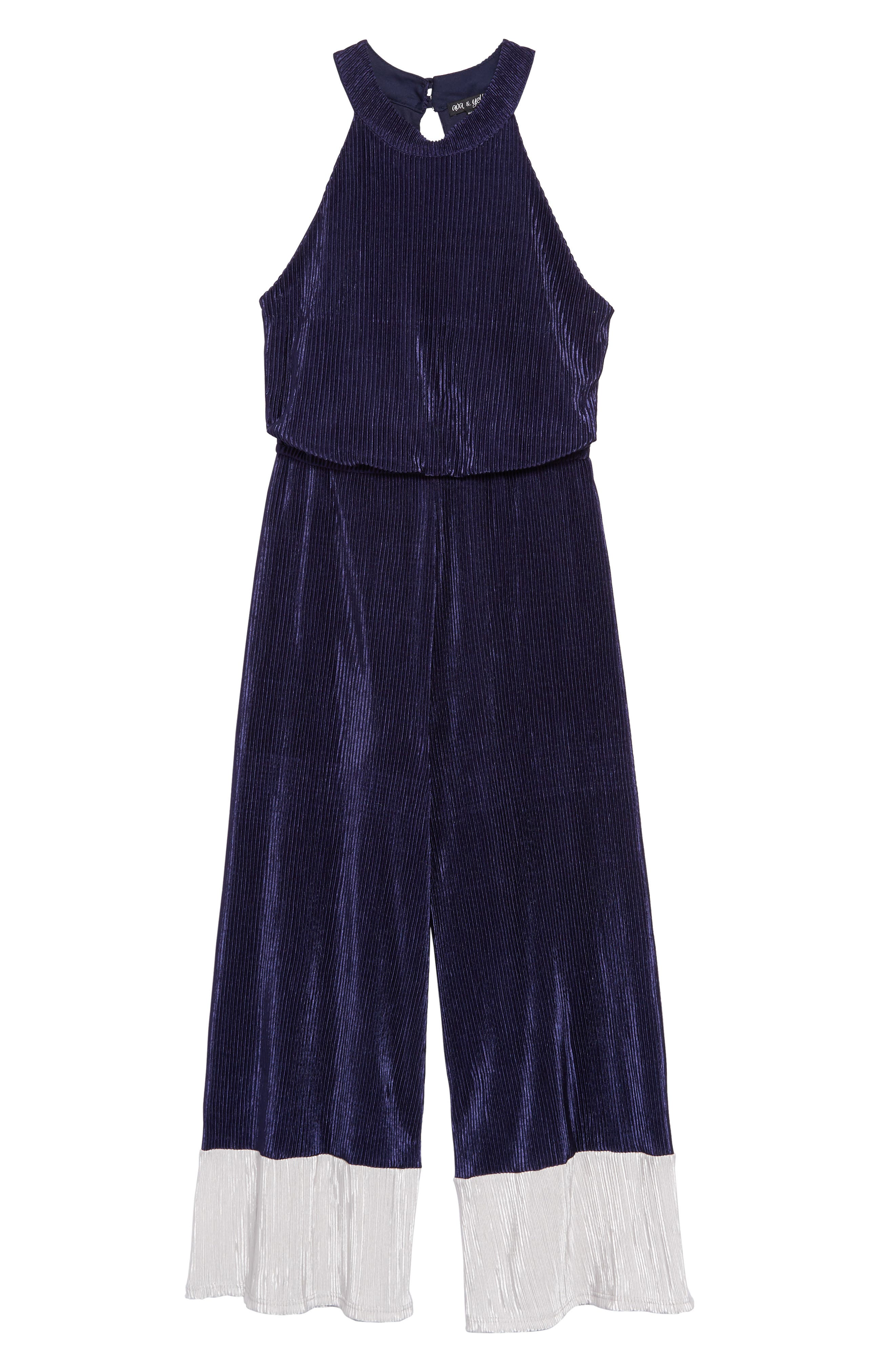Ava and Yelly Big Girls Tie Dye Jumpsuit