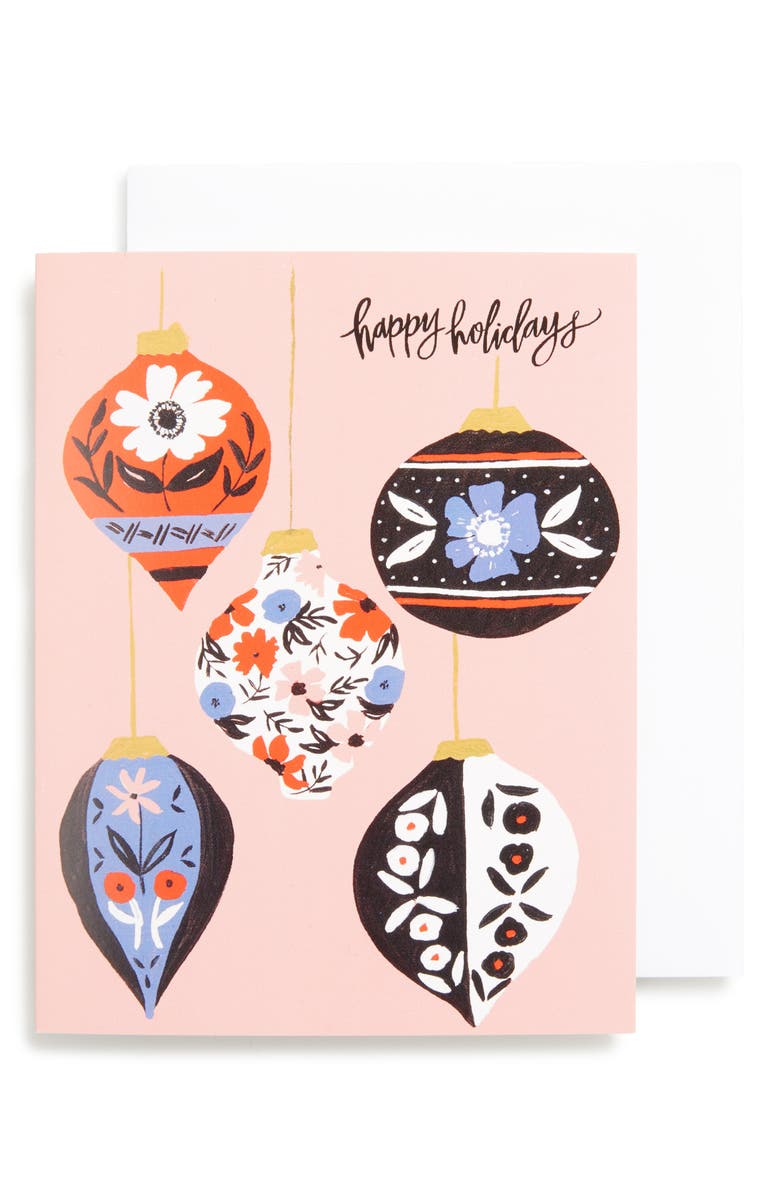SHANNON KIRSTEN Set of 8 Retro Ornaments Greeting Cards, Main, color, 650