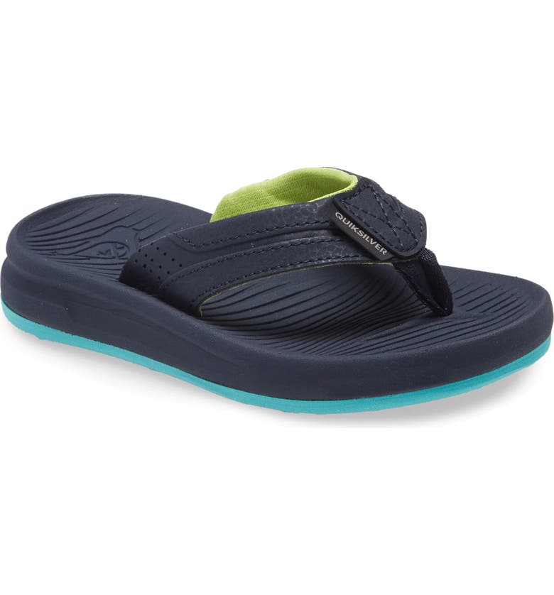 QUIKSILVER Oasis Flip Flop, Main, color, BLUE/ BLUE/ GREEN