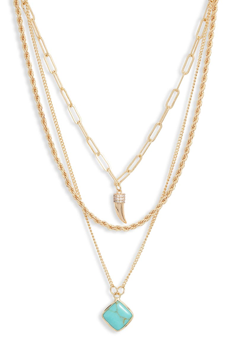 NORDSTROM Layered Pendant Necklace, Main, color, 420