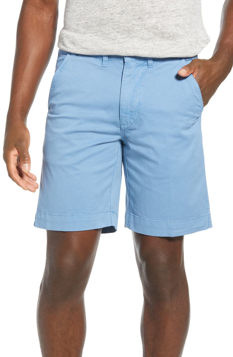 VINTAGE 1946 'Sunny' Stretch Chino Shorts, Main, color, AZURE BLUE