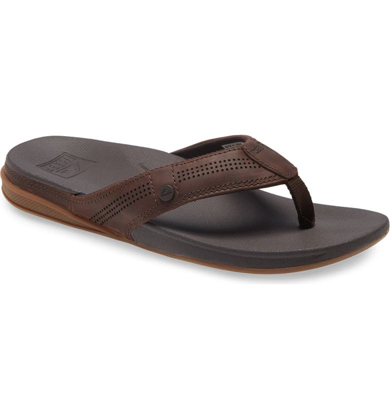 REEF Cushion Lux Flip Flop, Main, color, BROWN