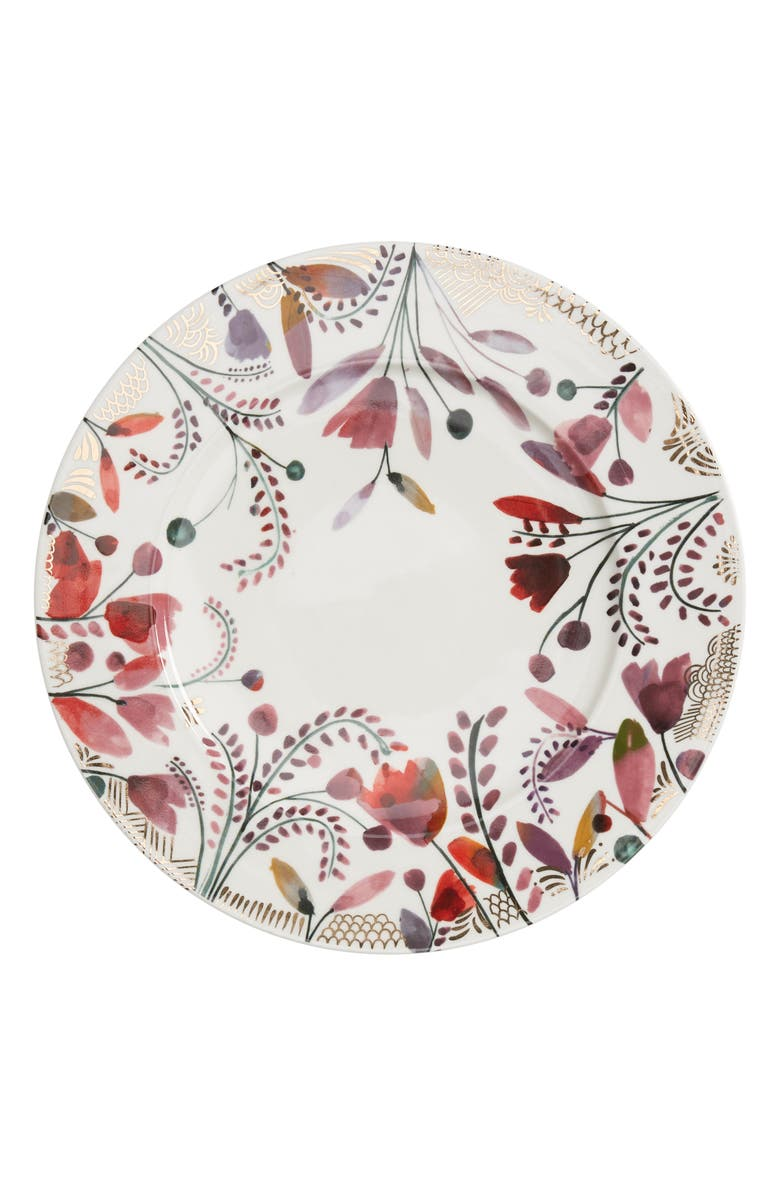 ANTHROPOLOGIE HOME Pheasant Moths Set of 4 Dinner Plates, Main, color, 100