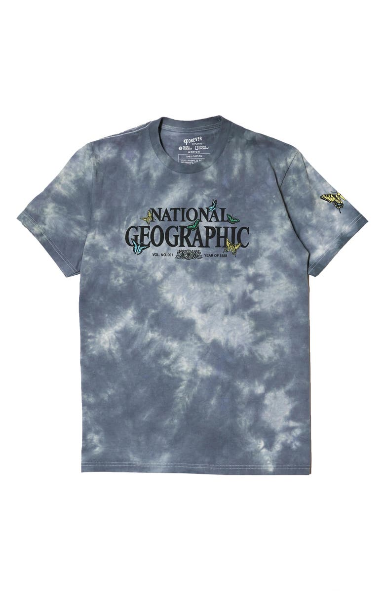 PARKS PROJECT x National Geographic Butterfly Tie Dye Graphic Tee, Main, color, TIE