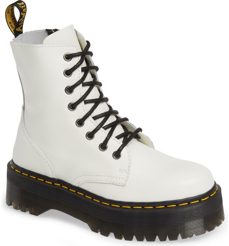 DR. MARTENS 'Jadon' Boot, Main, color, WHITE SMOOTH LEATHER
