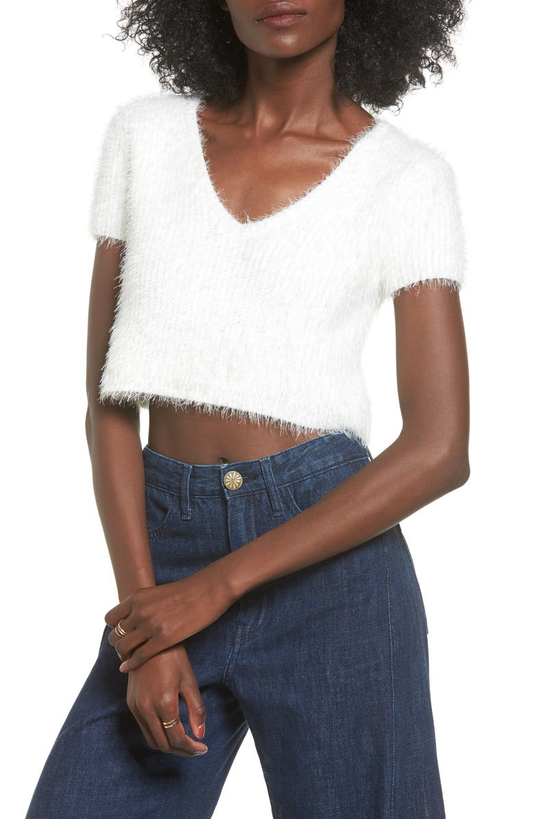 MAJORELLE Oracle Crop Sweater, Main, color, 900