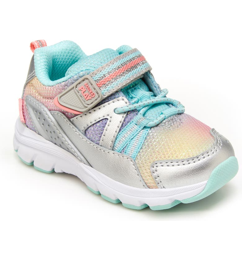 STRIDE RITE Made2Play<sup>®</sup> Journey Sneaker, Main, color, SILVER/MULTI