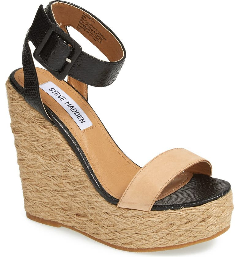 STEVE MADDEN 'Hamptin' Wedge, Main, color, 005
