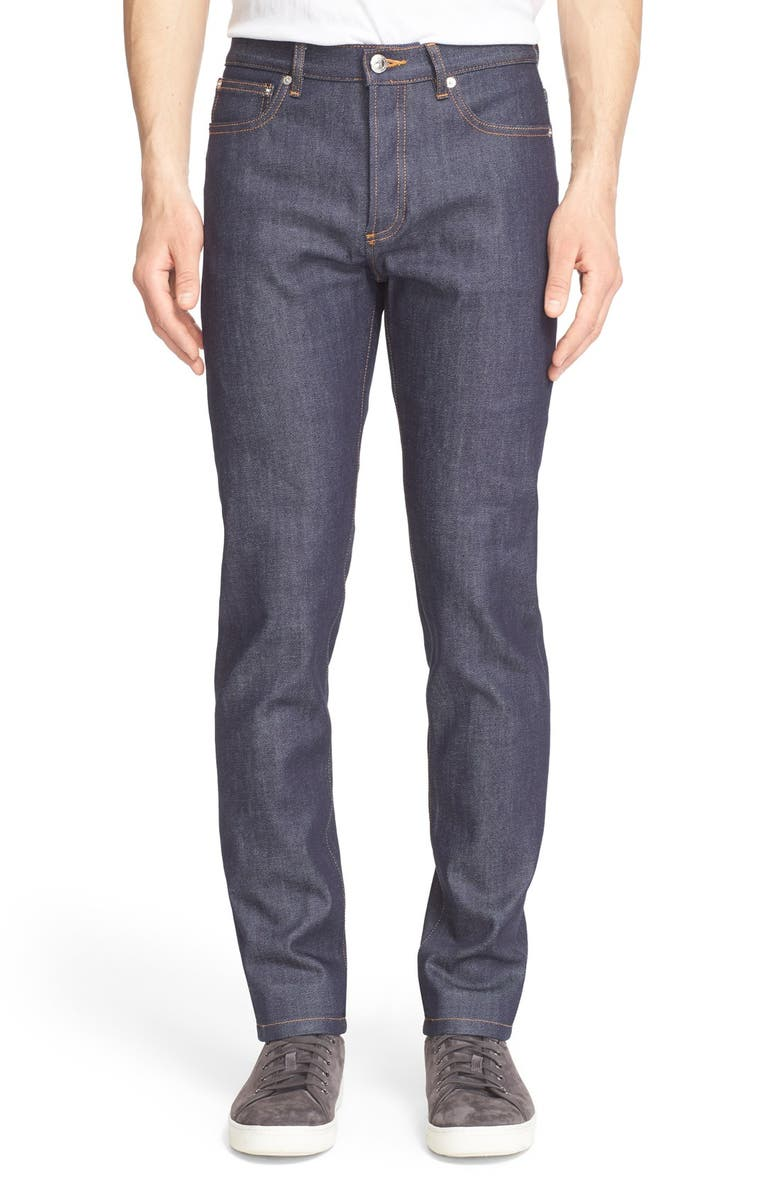 A.P.C. Petit New Standard Stretch Skinny Fit Jeans, Main, color, INDIGO