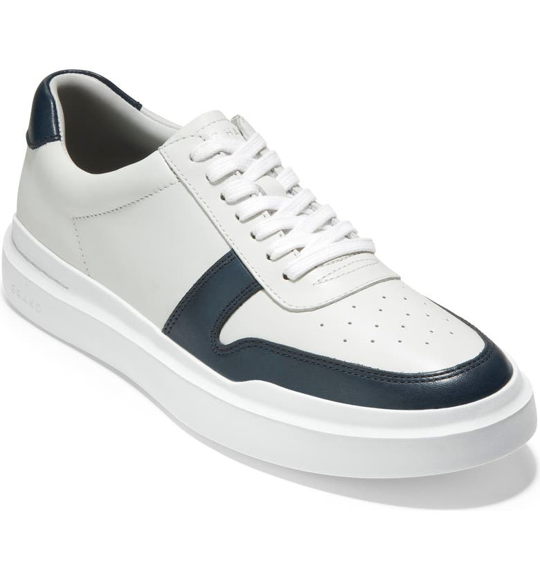 COLE HAAN GrandPro Rally Court Sneaker, Main, color, WHITE / NAVY