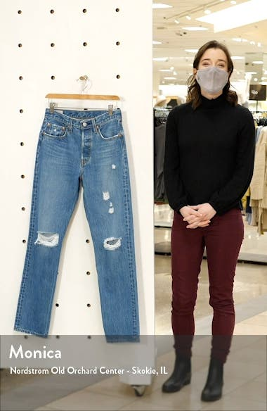 501<sup>®</sup> Ripped Straight Leg Jeans, sales video thumbnail