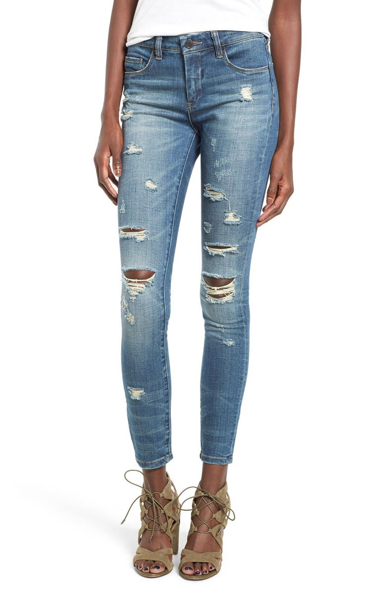 BLANKNYC 'So-Called Life' Destroyed Skinny Jeans, Main, color, SO CALLED LIFE