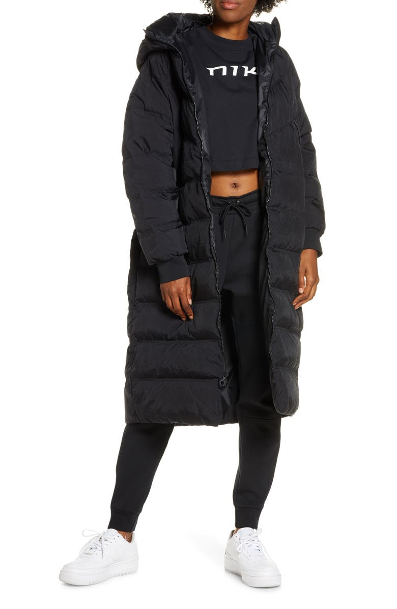 NIKE Sportswear City Ready Water Repellent Down Parka, Main, color, 010