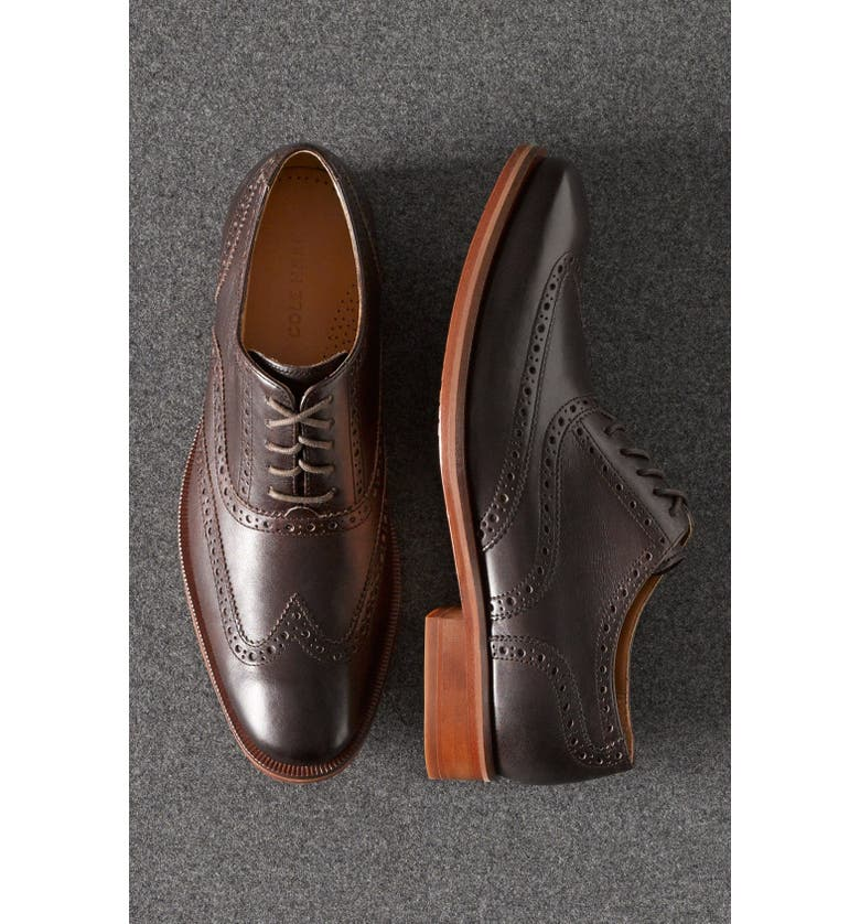 COLE HAAN 'Colton' Wingtip Oxford, Main, color, IRONSTONE