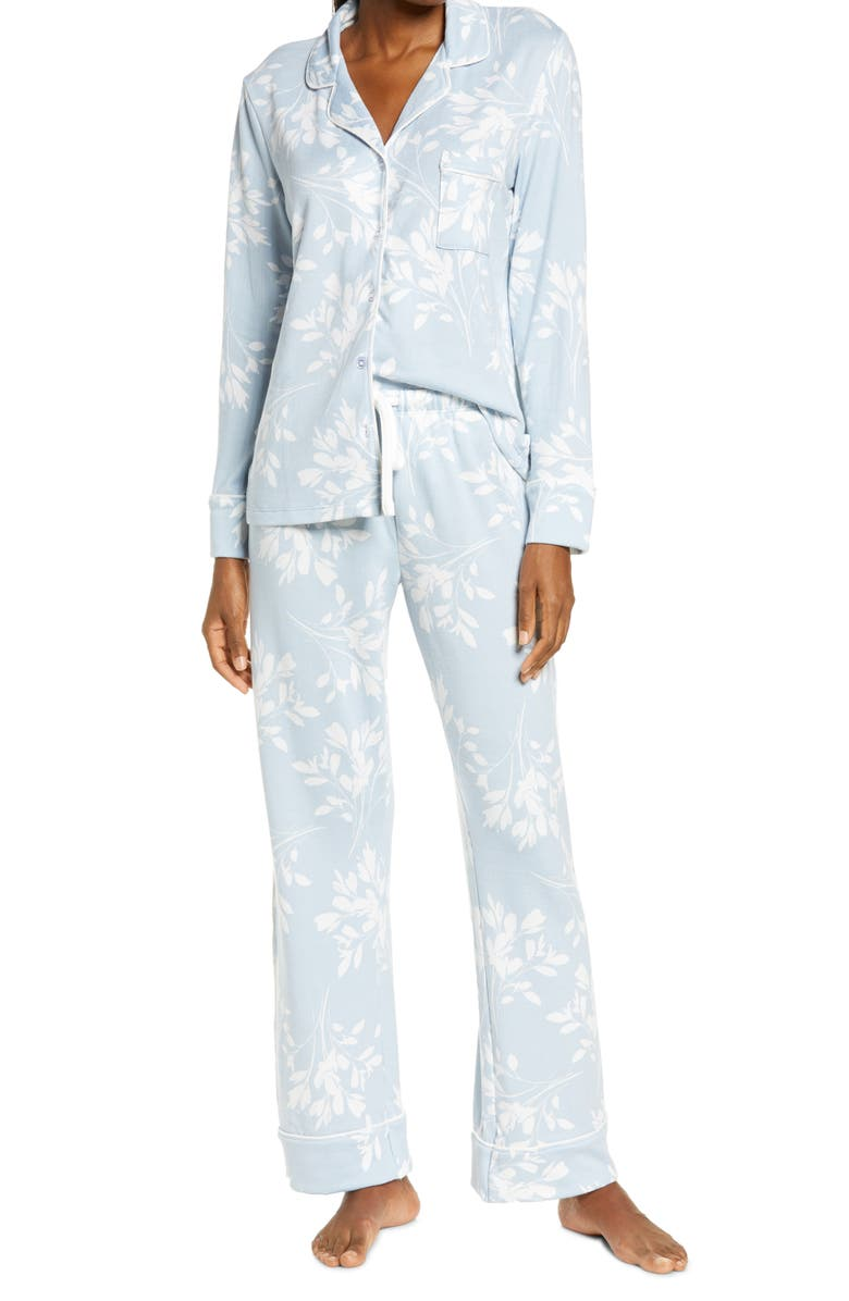 SPLENDID Pillow Soft Pajamas, Main, color, WHIMSY FLORAL- CELESTIAL BLUE