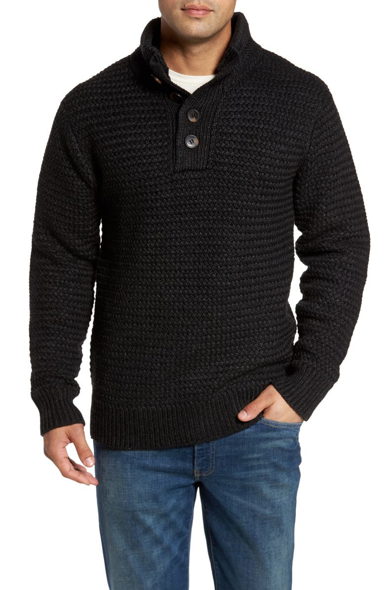 SCHOTT NYC Military Henley Sweater, Main, color, 001