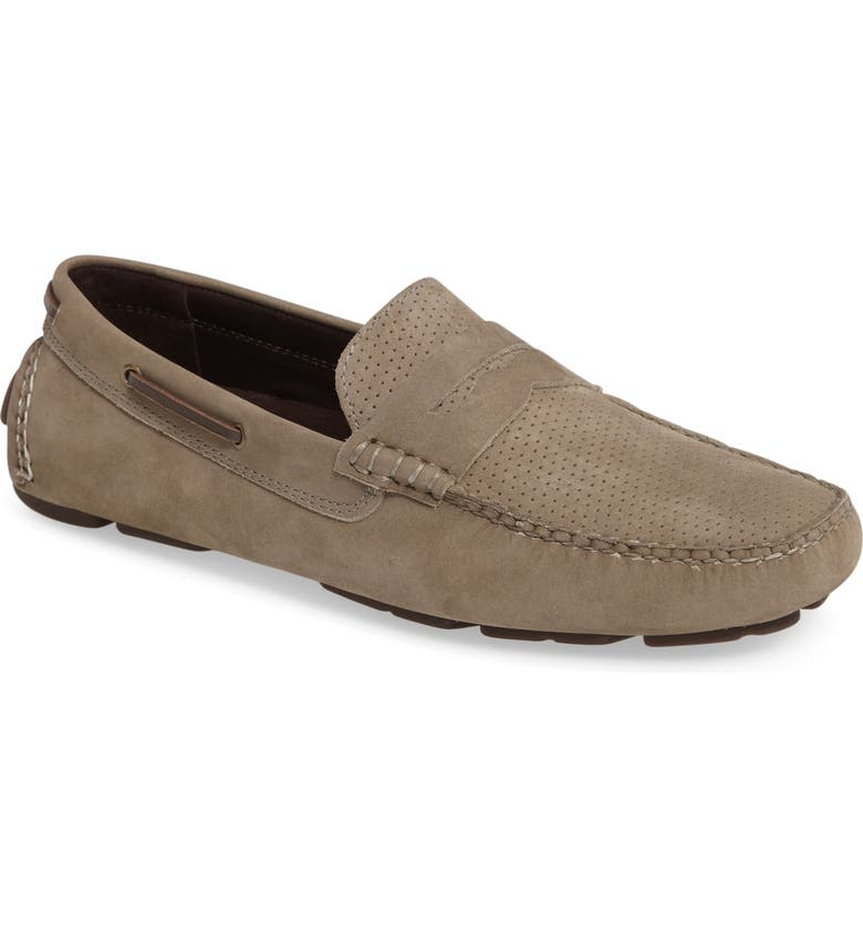 JOHNSTON & MURPHY Perforated Driving Loafer, Main, color, 020