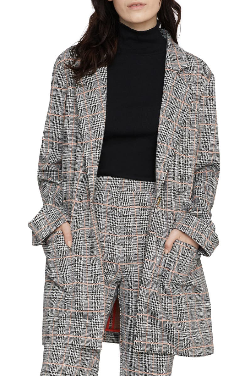 SANCTUARY The Editor Houndstooth Blazer, Main, color, 021