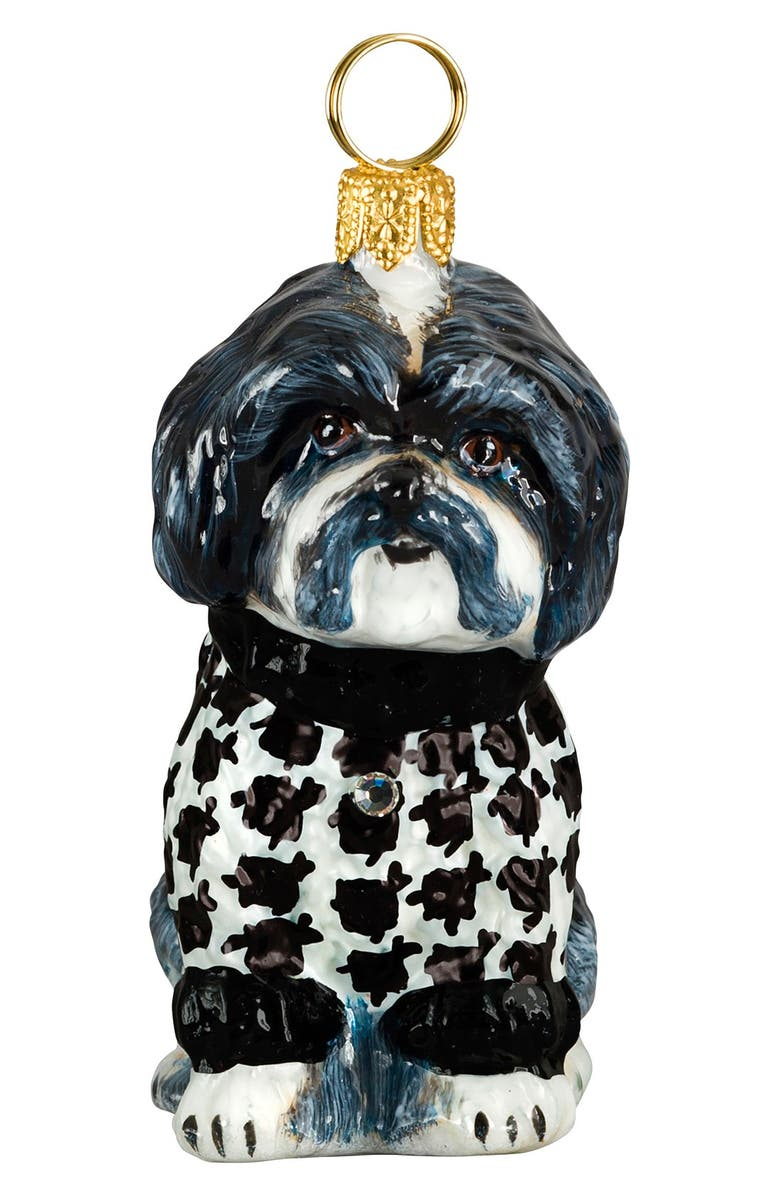 JOY TO THE WORLD COLLECTIBLES 'Dog in Houndstooth Sweater' Ornament, Main, color, 001