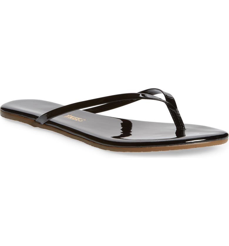 TKEES 'Glosses' Flip Flop, Main, color, LICORICE