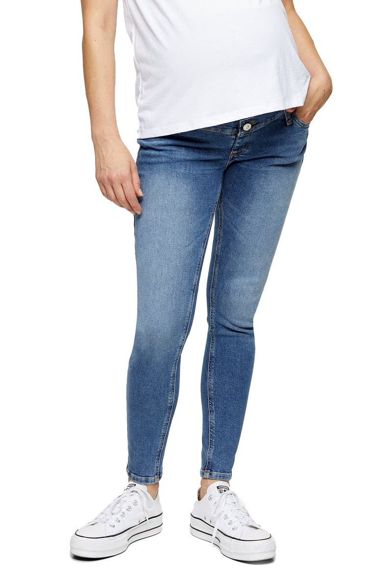 TOPSHOP Jamie Over the Bump Maternity Jeans, Main, color, 420