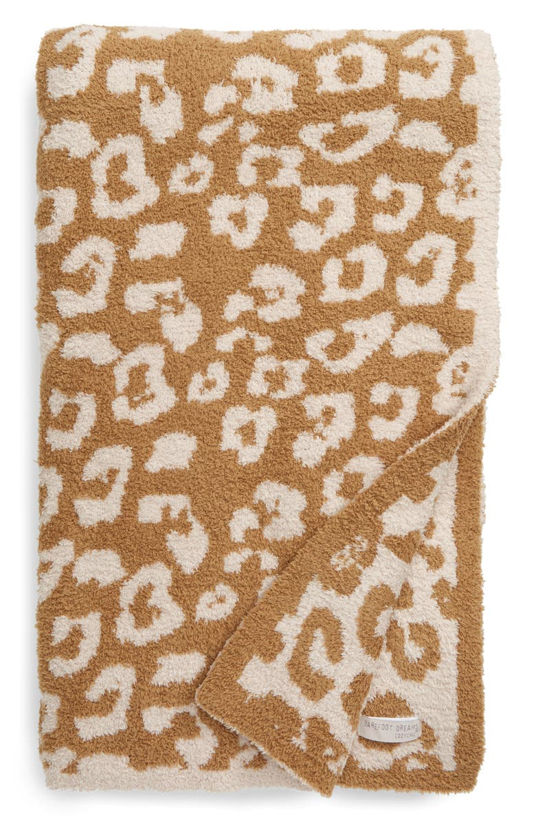 BAREFOOT DREAMS<SUP>®</SUP> In the Wild Throw Blanket, Main, color, CAMEL-STONE