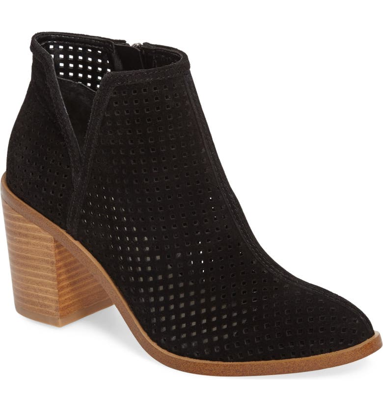 1.STATE 1. STATE Larocka Perforated Bootie, Main, color, Black