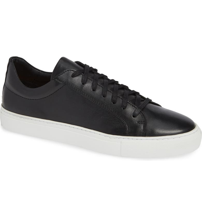 SUPPLY LAB Damian Low Top Sneaker, Main, color, BLACK LEATHER
