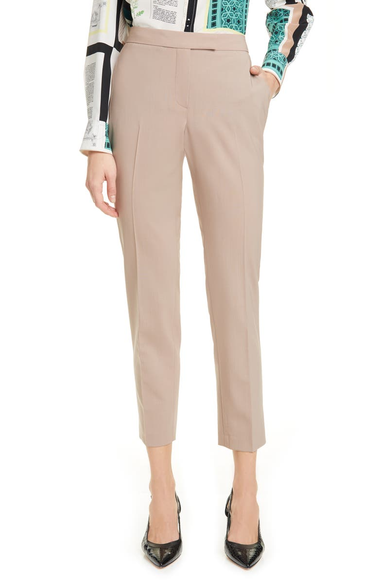 JUDITH & CHARLES Clive Ankle Stretch Wool Trousers, Main, color, 200