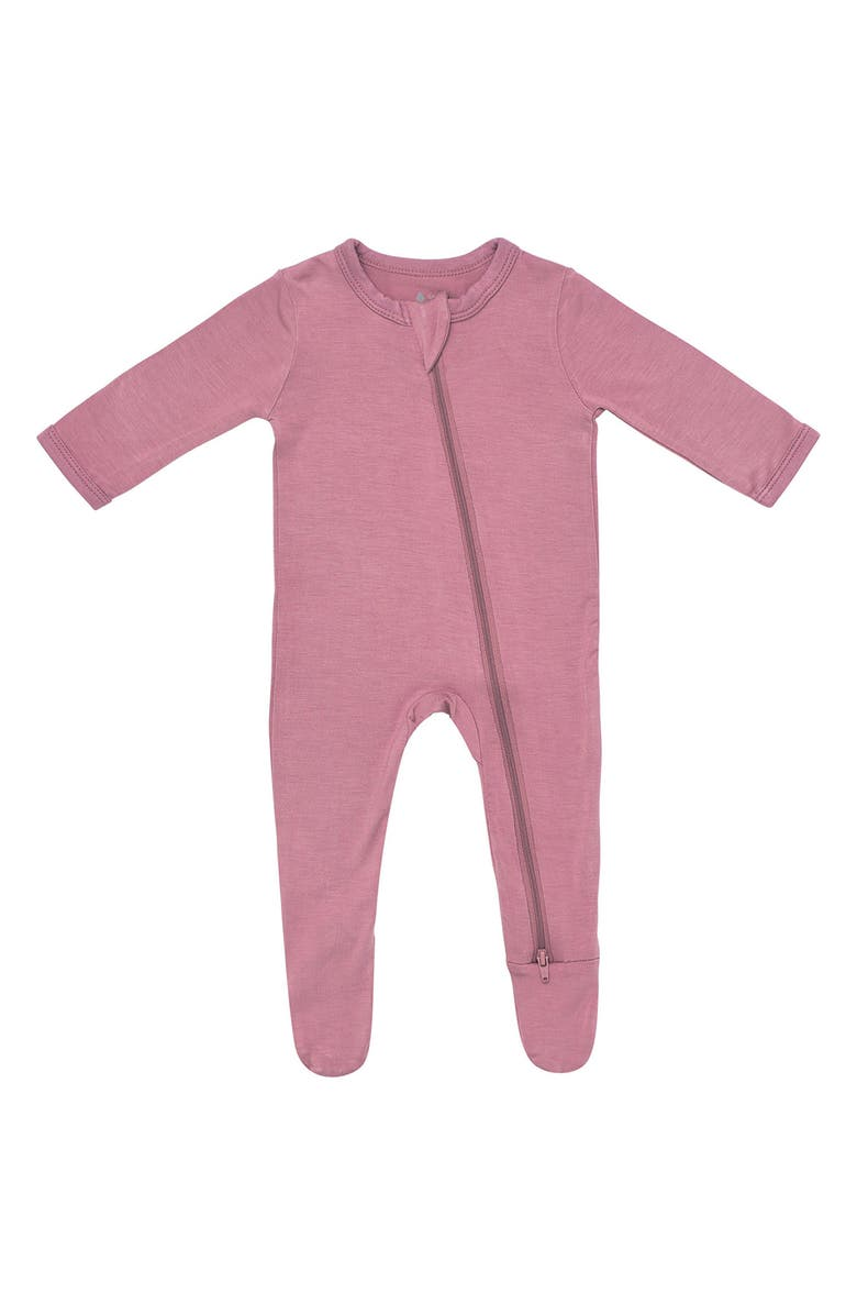 KYTE BABY Zip-Up Footie, Main, color, MULBERRY