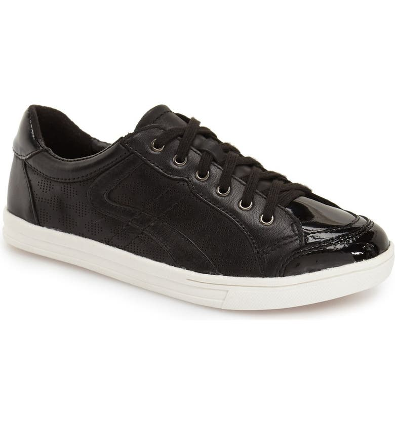EARTH<SUP>®</SUP> 'Quince' Leather Sneaker, Main, color, BLACK LEATHER
