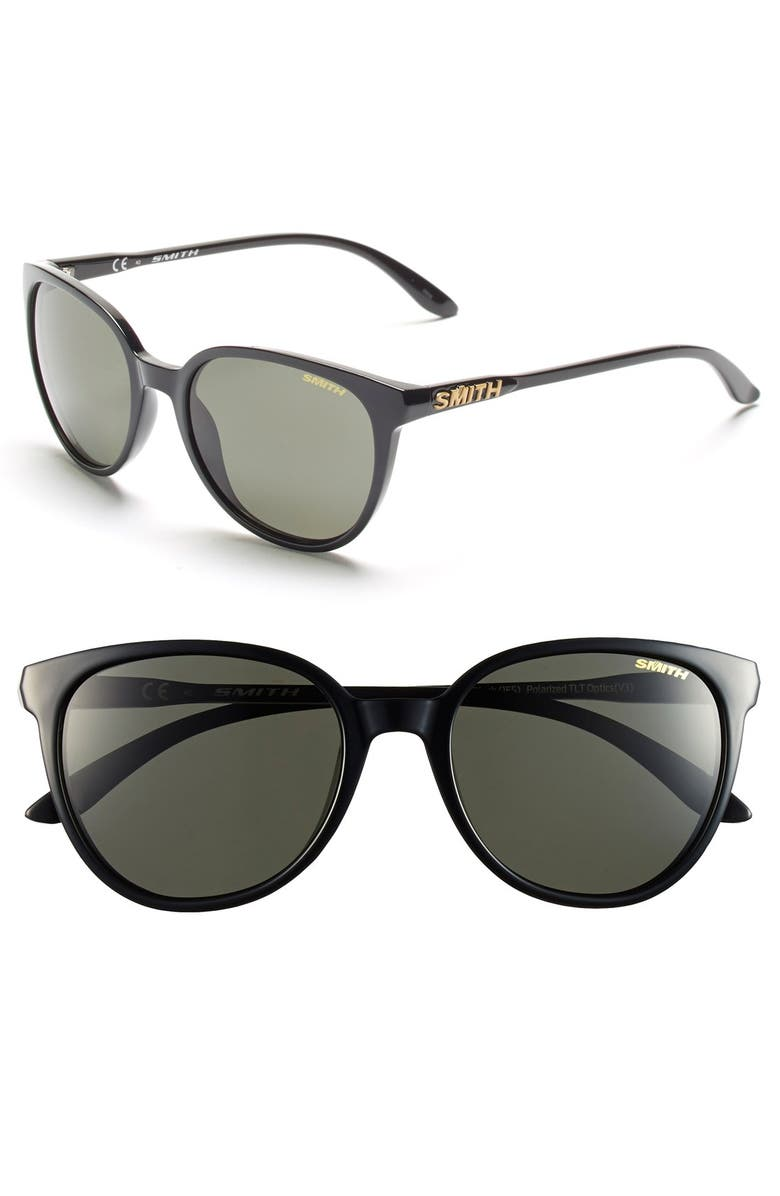 SMITH 'Cheetah' 53mm Sunglasses, Main, color, BLACK/ POLAR GREY/ GREEN