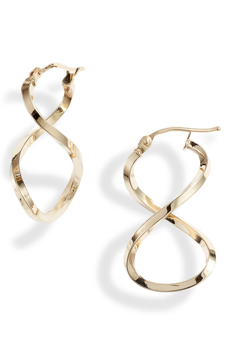 BONY LEVY 14K Gold Open Twist Hoop Earrings, Main, color, YELLOW GOLD
