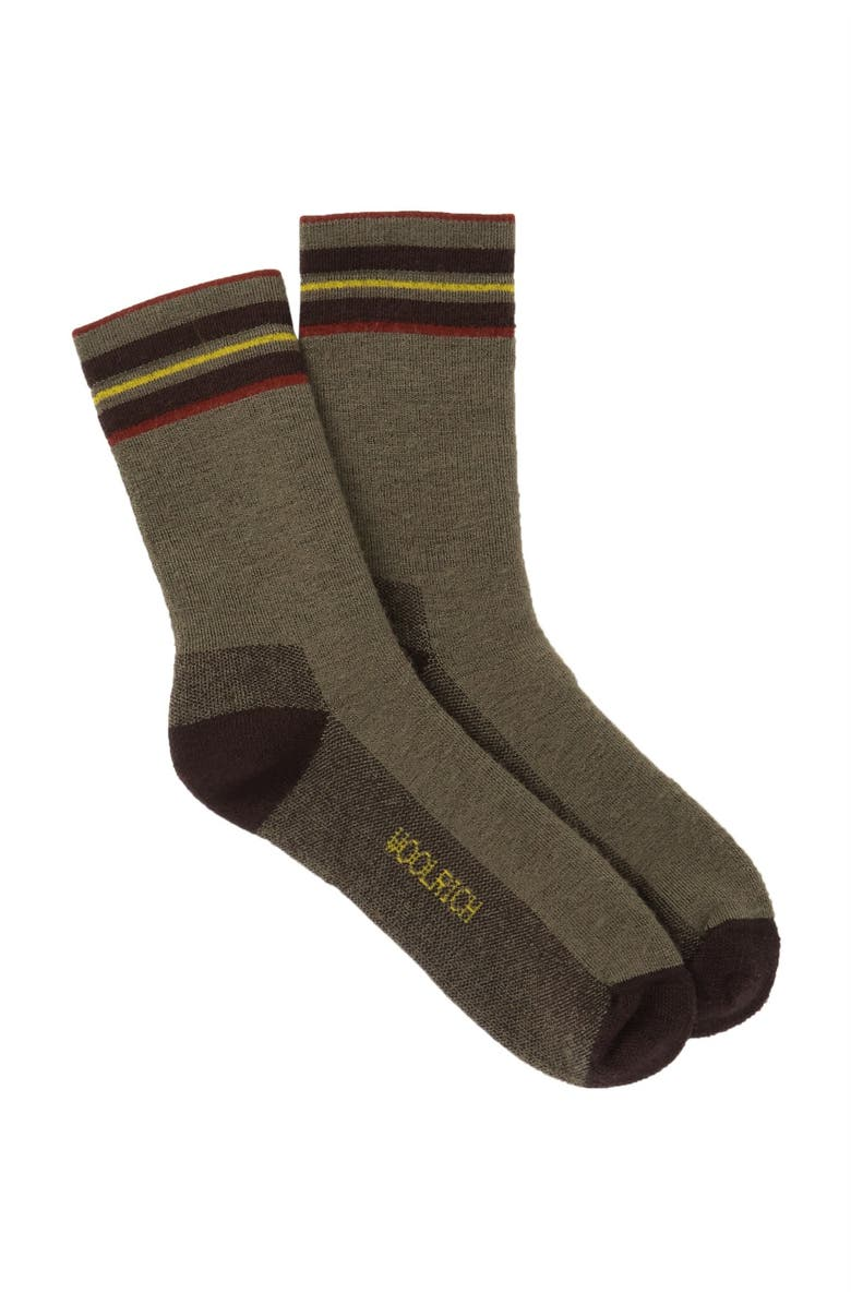 WOOLRICH Tipped Stripe Crew Socks, Main, color, 020