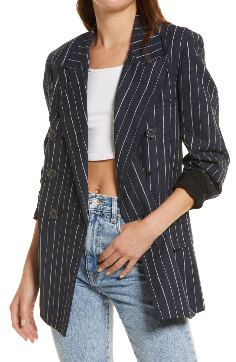 FREE PEOPLE Ashby Blazer, Main, color, NAVY COMBO